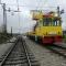 Železniška postaja Tezno med izvedbo del.